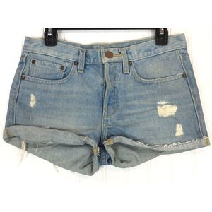 BDG mid rise denim button fly shorts A0110
